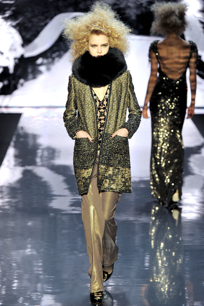Badgley Mischka Metallic Tweed Coat
